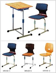 adjustable height chair. Height Adjustable School Desk \u0026 Chair Image