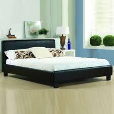 memory foam mattress bed frame. Interesting Frame Image Is Loading CHEAPBEDFRAMEDOUBLEKINGSIZELEATHERBEDS Inside Memory Foam Mattress Bed Frame O