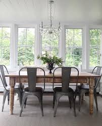 farm table with metal chairs fantastic unbelievable best dining ideas on interiors 3
