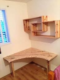 engaging wooden folding table plans diy pallet desk with art style shelves