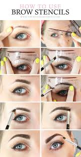 how to use eyebrow stencils best makeup tutorials and beauty tips from the web