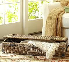 baskets for under coffee table lidded basket on top of basket trunk to make side table baskets for under coffee table