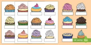 Sparklebox Birthday Charts Free Editable Self Registration Cupcakes Self