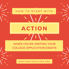 writing college essays how to start action applying to college when i updated my blog post 3 ways to start an interesting college essay i realized