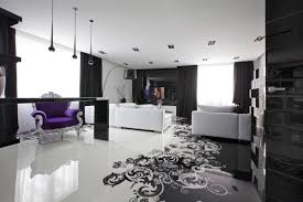 Wohnungseinrichtung Schwarz Weiß