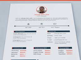Ux Design Resume Fascinating 48 Resume Template Free PSD Freebie Supply