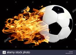 4 Pics 1 Word Lights Soccer Ball With Blue Flame Ball In The Fire Stock Photos Ball In The Fire Stock