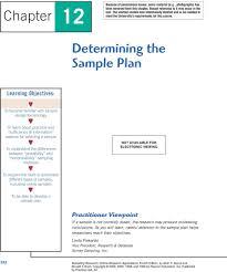 Types Of Sampling Design Chapter 12 Determining The Sample Plan Pdf Free Download