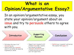 in today s lesson you will  review the parts of an opinion  3 what is an opinion argumentative essay