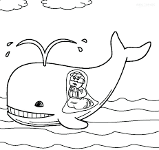 Sunday School Coloring Pages Toddlers And The Whale Coloring Sheet