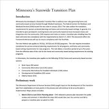 11 Transition Plan Templates Free Sample Example Format
