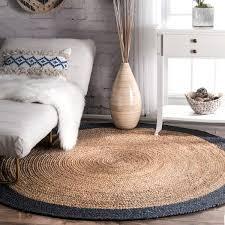 6 ft round jute rug designs