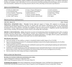 example project manager resume com example project manager resume