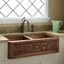36 fl design double bowl copper farmhouse sink