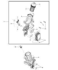 engine oil filter housing for 2008 jeep wrangler 2008 jeep wrangler engine oil filter housing diagram i2201609