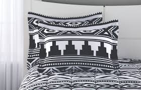 queen size 8pc comforter bedding set aztec black white southwest style bedroom n