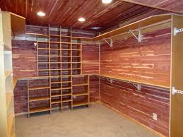 image of rustic cedar closet flooring