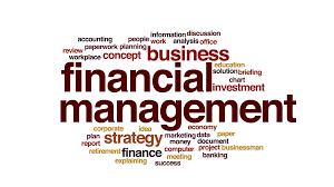 Finnancial Management Financial Management Animated Word Cloud Text Design Animation