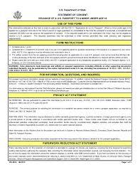 Citizenship Application Form Unique Passport For Minor Consent