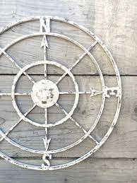 art large metal compass wall art best nautical compass white wall art shabby chic decor metal