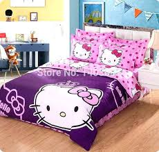 I Minions Twin Bed Set Queen Size Bedding Cartoon Hello Kitty  Sets For Home