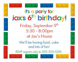 Boys Birthday Party Invitations Templates Lego Birthday Party Invitations Printable Free In 2019