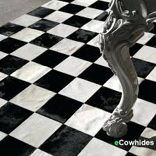 patchwork cowhide rug uk checkers black and white