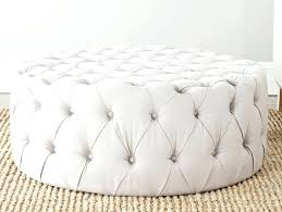 tufted upholstered ottoman coffee table round design ideas