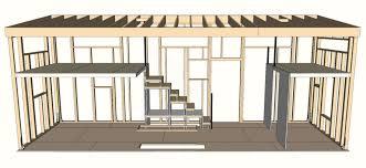 morrison home sketch up model framing side view