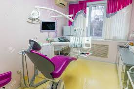 dental office colors. Dental Office In Pink Colors Stock Photo - 70313795