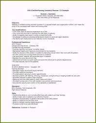 Sample Certified Nursing Assistant Resume 40 Fascinating Cna Resume Template Free You Should Know