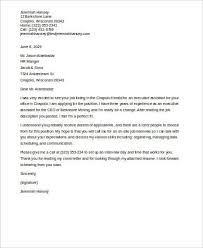 Sample Executive Assistant Cover Letter 7 Examples In