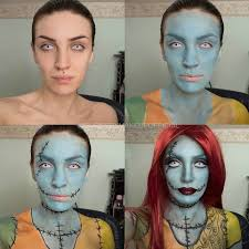 sally nightmare before makeup tutorial easy picture2
