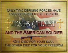 Image result for Picture of a  military VET and christianity