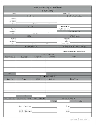 Bill Of Lading Template Free Download Moontex Co
