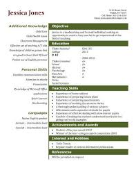 Teaching Assistant Gallery For Website Resume Templates For College