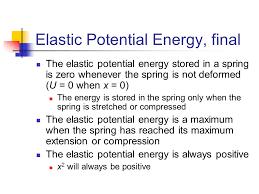 16 elastic potential