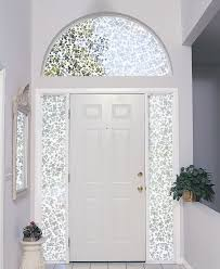 Trendy White Wooden 6 Panels Front Door With Cool Transom Arched Windows As  Entry Area Interior Modern Designs With White Wall Painted Color Themes  Ideas