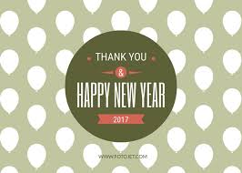 New Year Thank You Card Design Template Template Fotojet