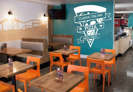 Pizza Shop Interior Design Buy Pizzeria Kitchen Wall Vinyl Decal Pizza Shop Emblem Wall
