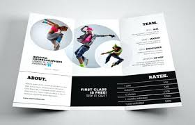 Dance School Brochure Template Flyer Vector – Poquet