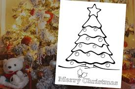 Adorable Christmas Tree Coloring Page Instant Download