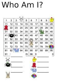 Editable Hundreds Chart Who Am I Hundreds Chart Editable