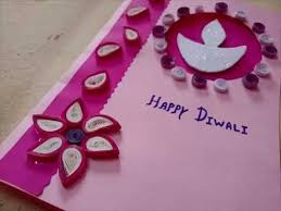 Ideas For Making Diwali Charts Diwali Greeting Card Making Idea With Paper Quilling Youtube