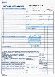 auto body repair invoice 4 part auto body repair order invoice carbonless auto body
