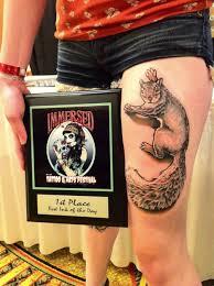 Pin by Hilary Arnold on SO CUTE! | Squirrel tattoo, Animal tattoos, Leg  tattoos