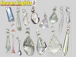 droplets cut glass crystals drops beads vintage wedding chandelier prisms retro