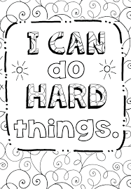 Free Coloring Page Growth Mindset Teaching Art Simplified