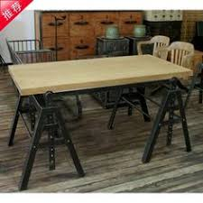 wrought iron and wood furniture. American Industrial Loft-style Retro Furniture, Wrought Iron Wood Desk Combination Of And Furniture