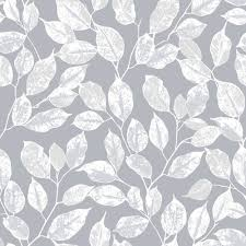 Silver Pattern Awesome Rasch Floral Leaf Pattern Wallpaper Modern Metallic Silver Leaves